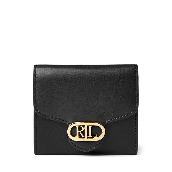 Lauren Ralph Lauren Leather Compact Wallet In Black