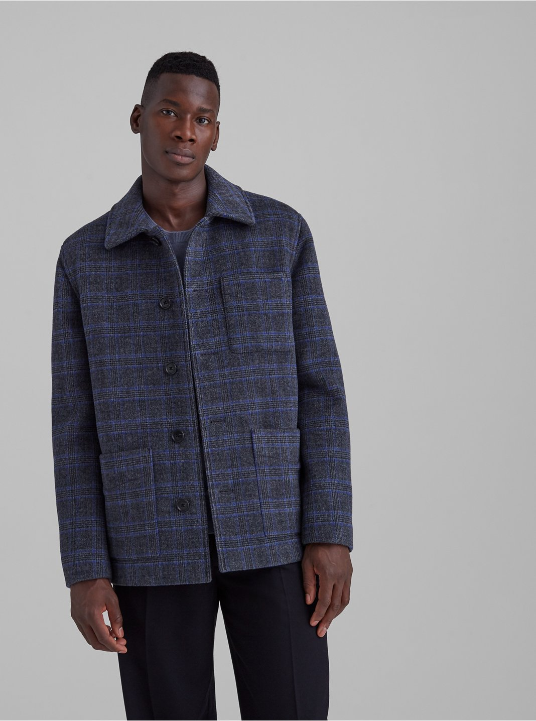 Patterned Chore Coat