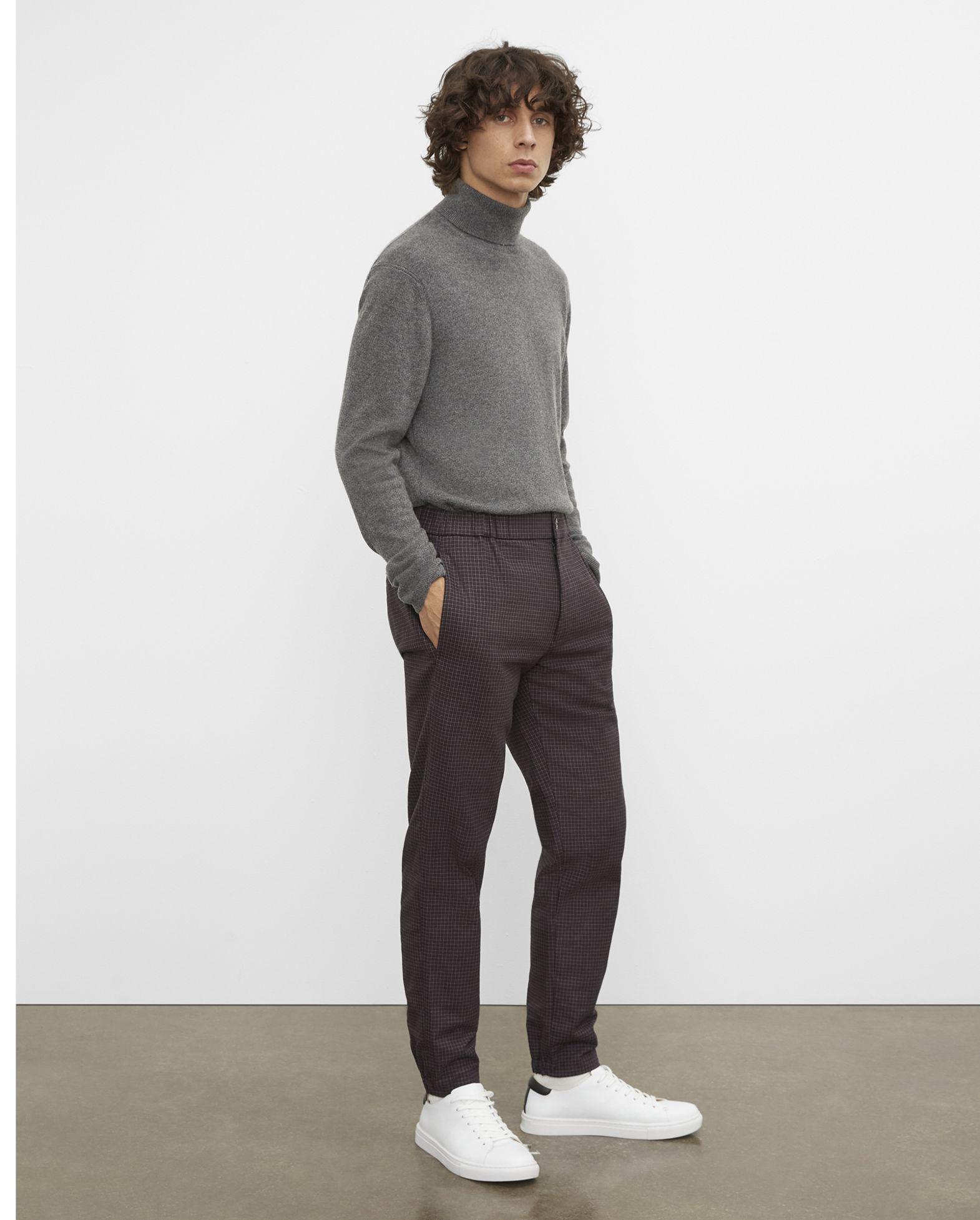 CLUB MONACO Lex Mini Check Trousers