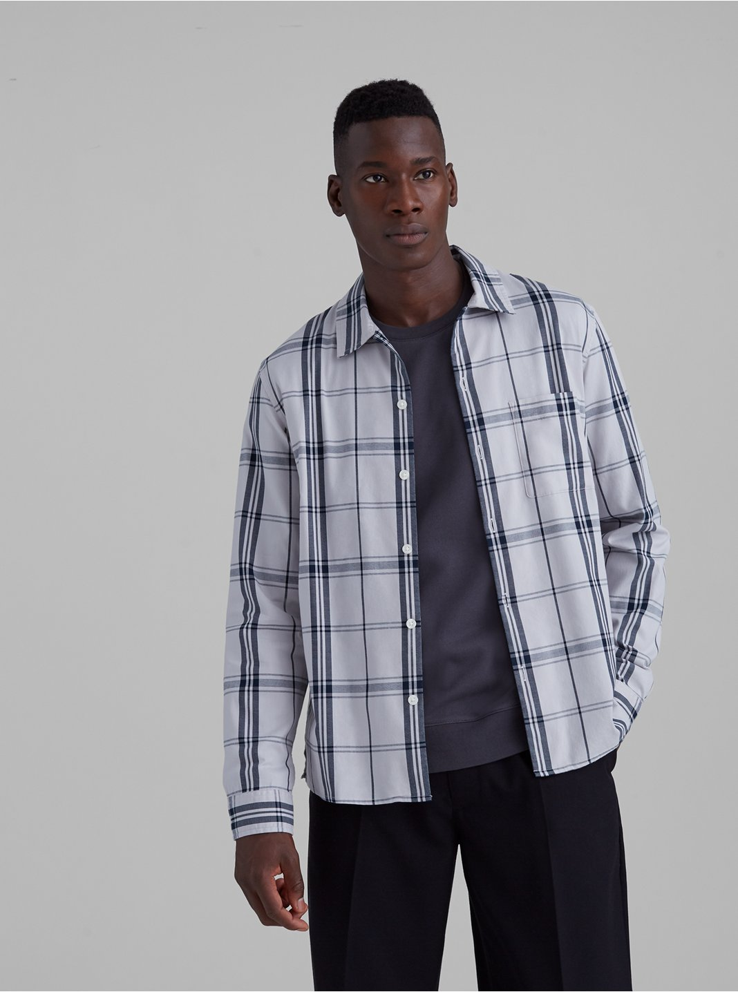 Standard Fit Plaid Shirt