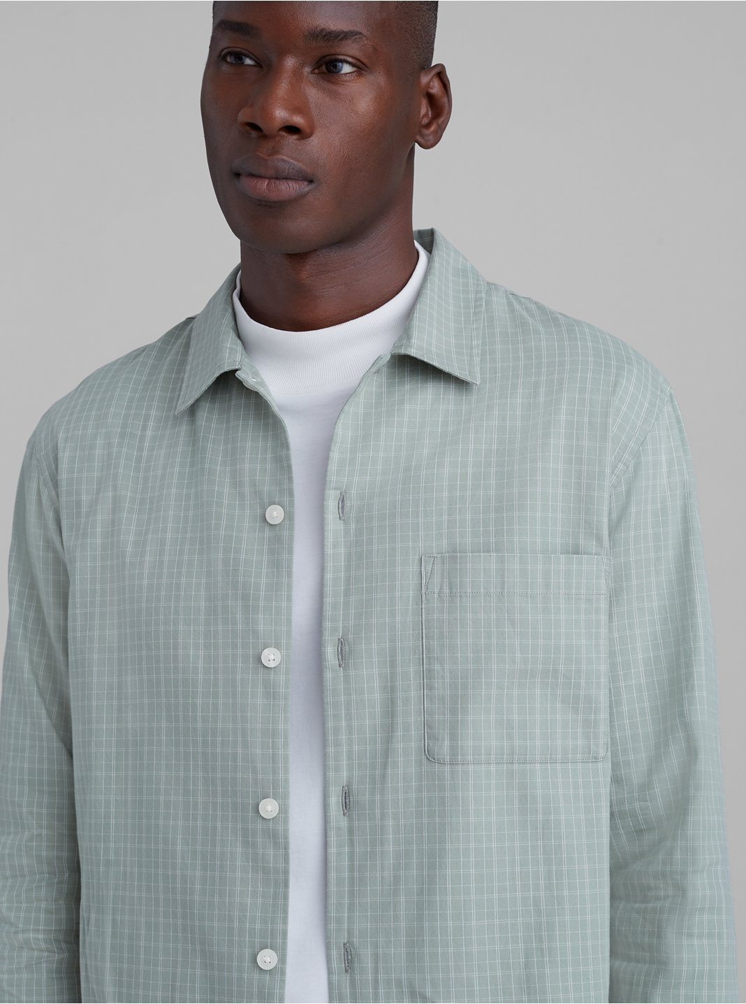 Standard Fit Windowpane Shirt