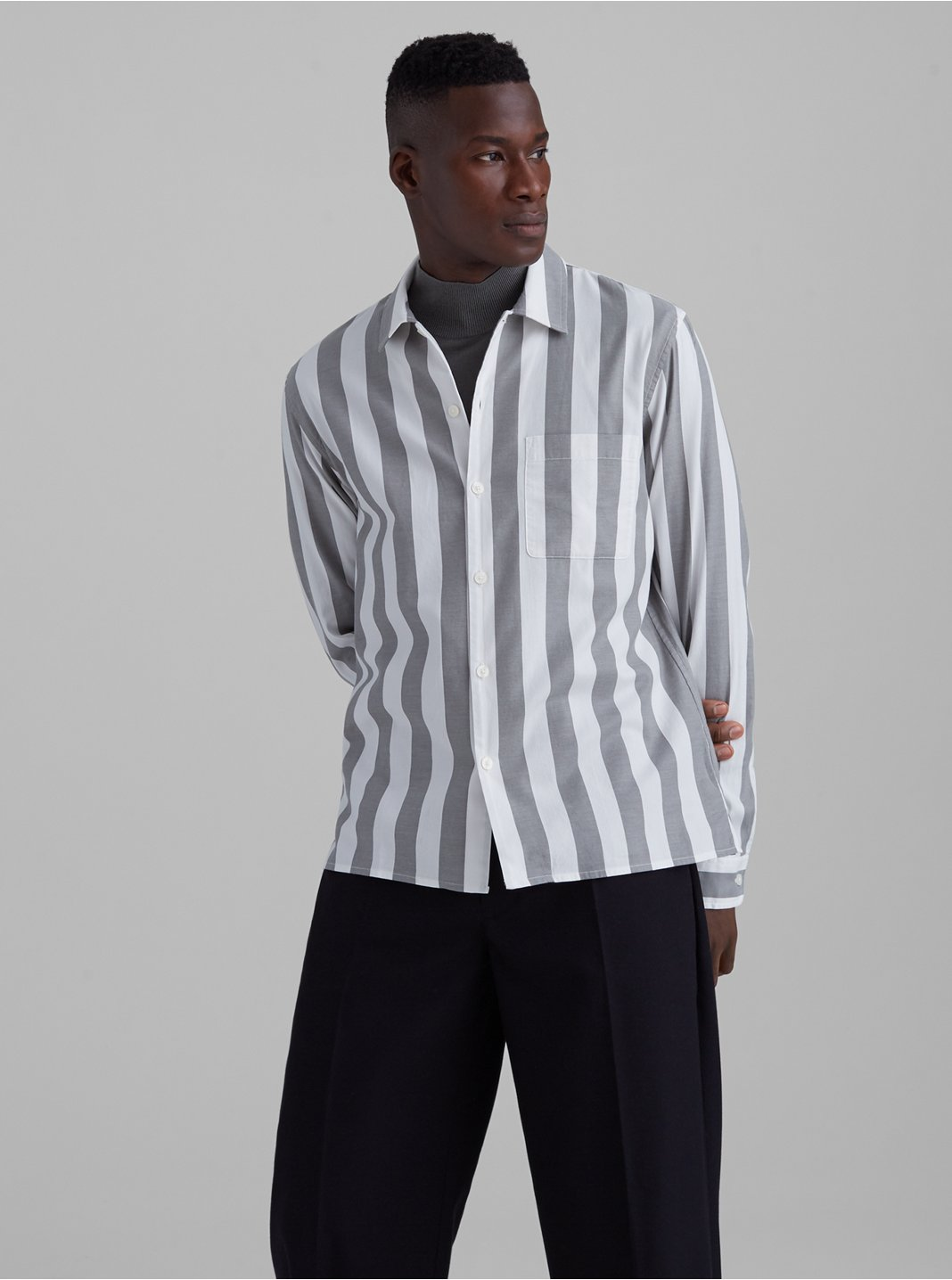Standard Fit Bold Striped Shirt