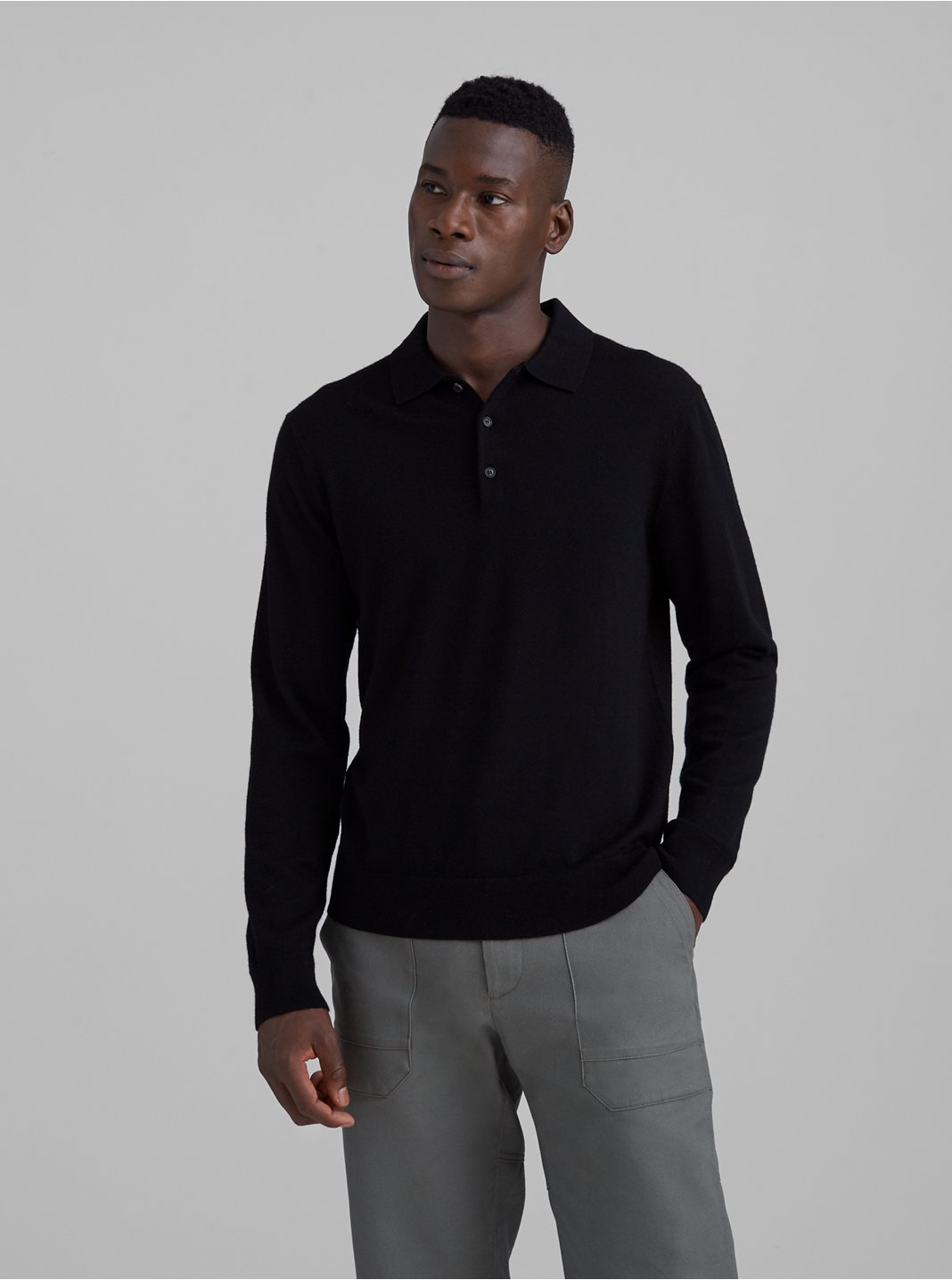 Merino Polo Sweater