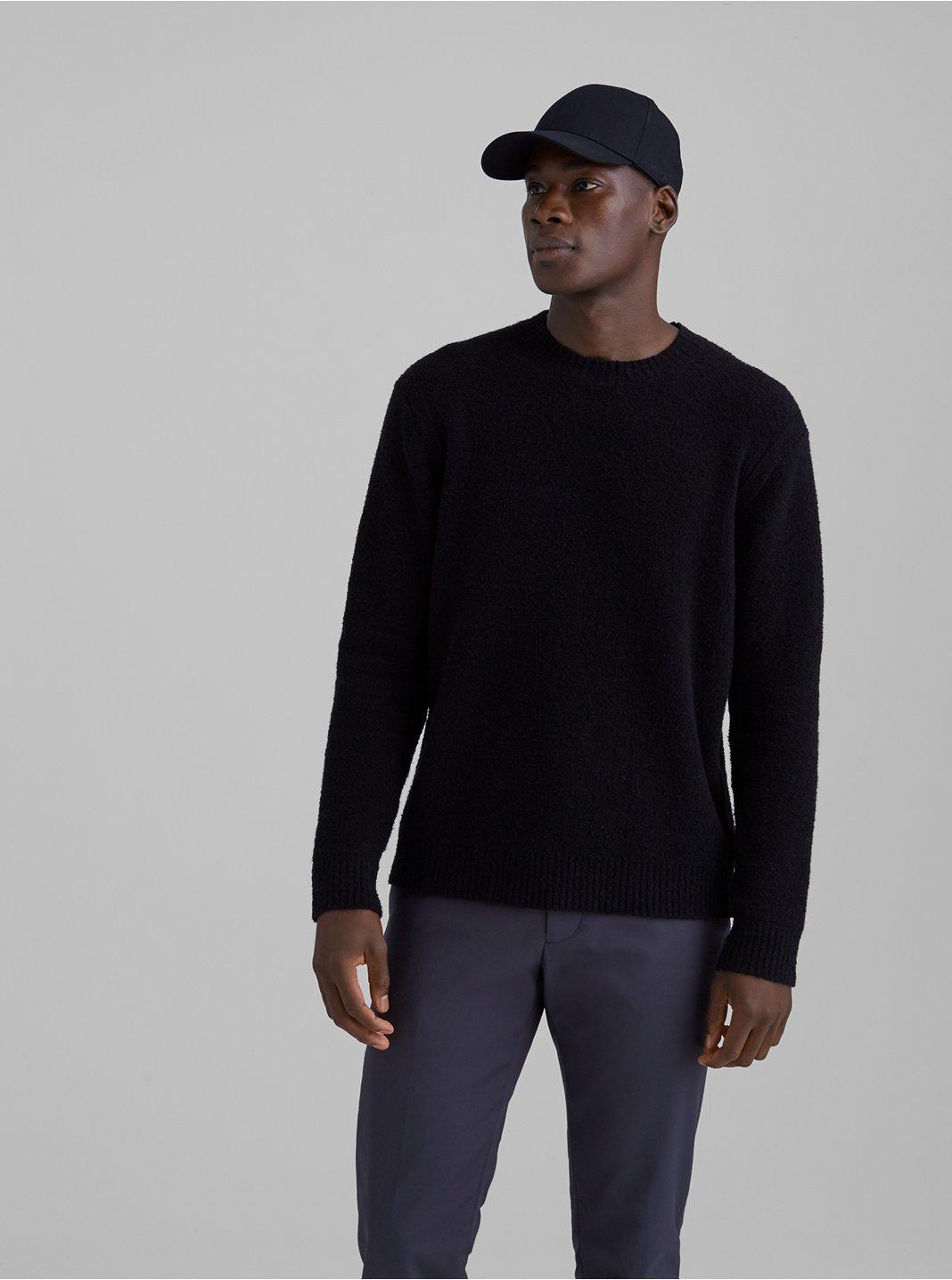 클럽 모나코 남여공용 부클 스웨터 - 블랙 Club Monaco Unisex Boucle Crew Sweater 562033