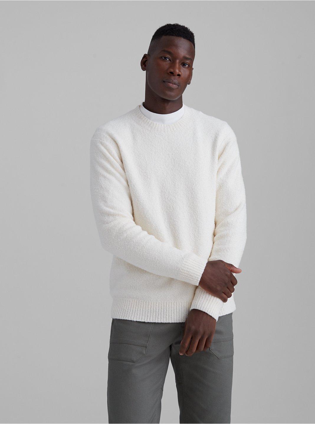 Unisex Bouclé Crew Sweater
