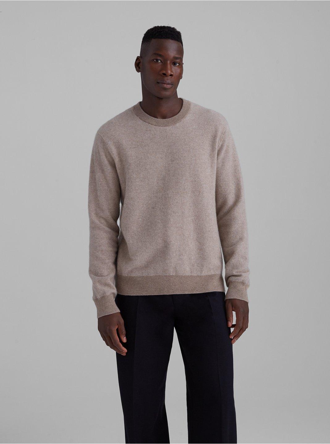 Cashmere Jacquard Crewneck Sweater