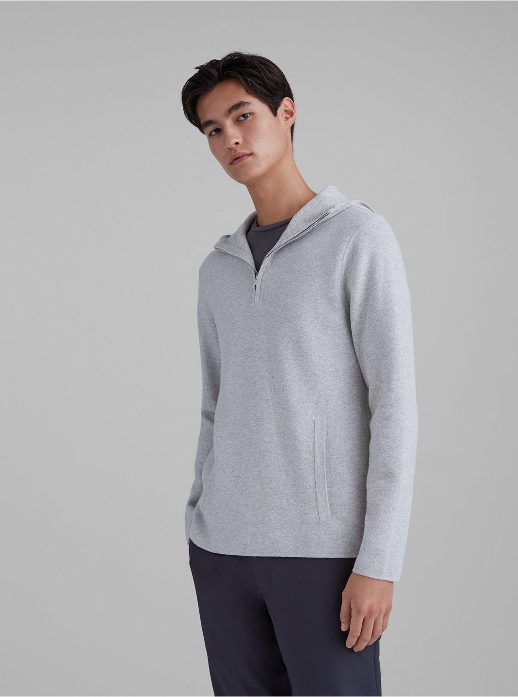 Quarter Zip Hoodie Sweater