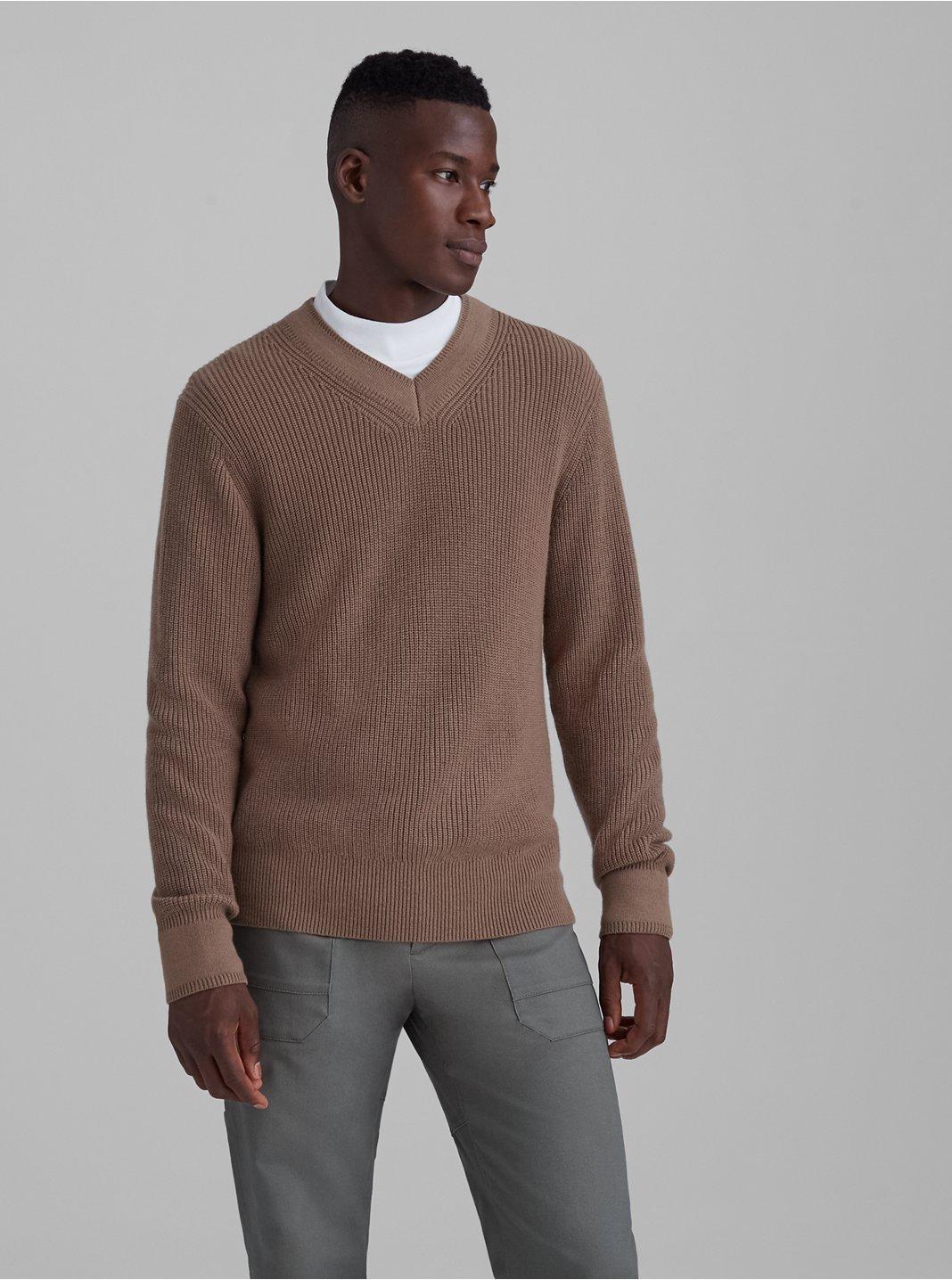 Wool Blend V-Neck Sweater