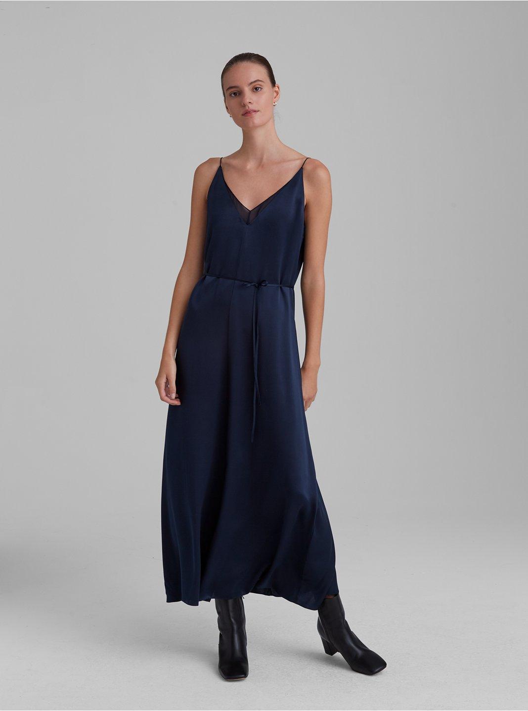Double V Slip Dress