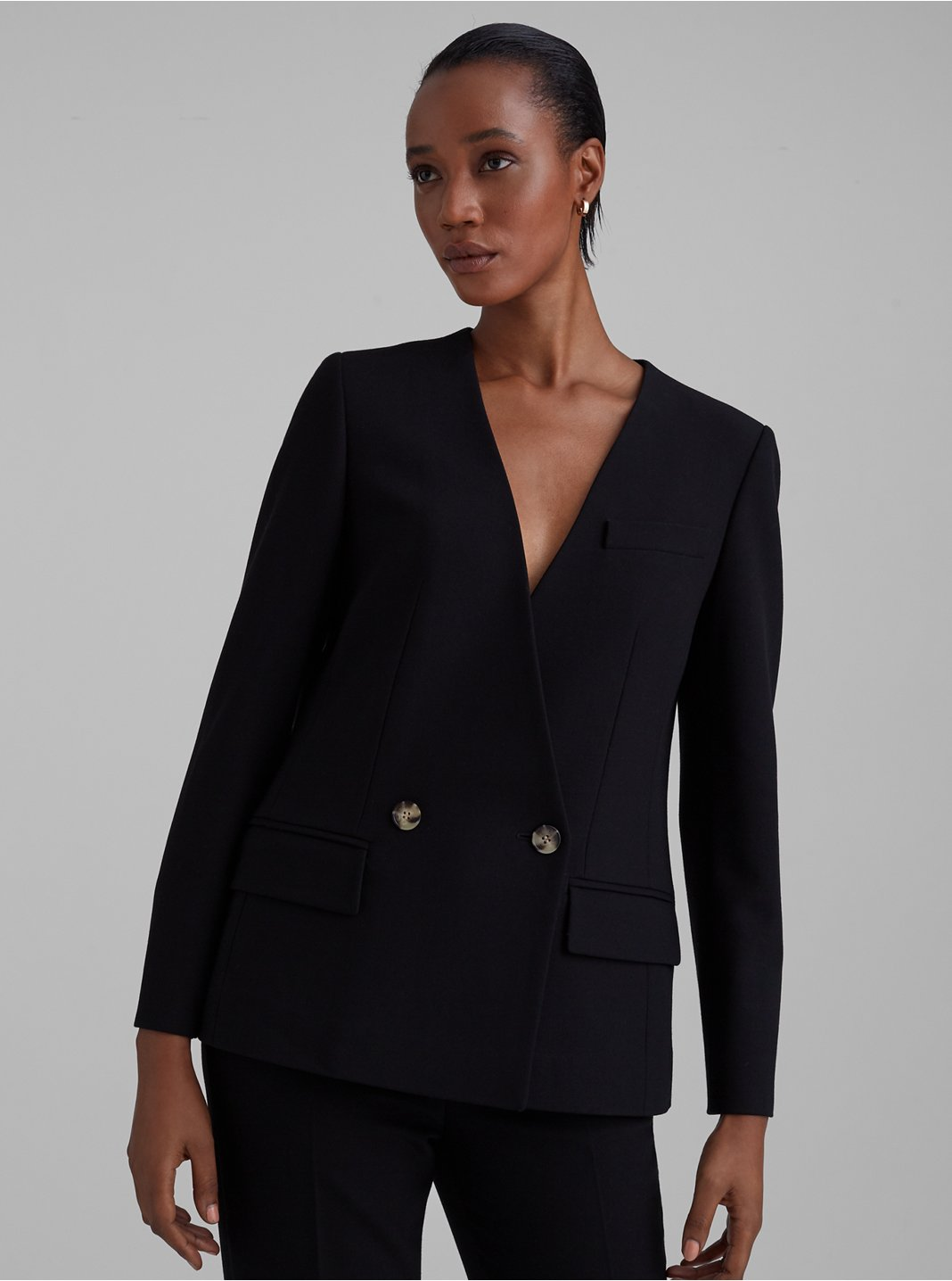 Collarless Fashion Blazer