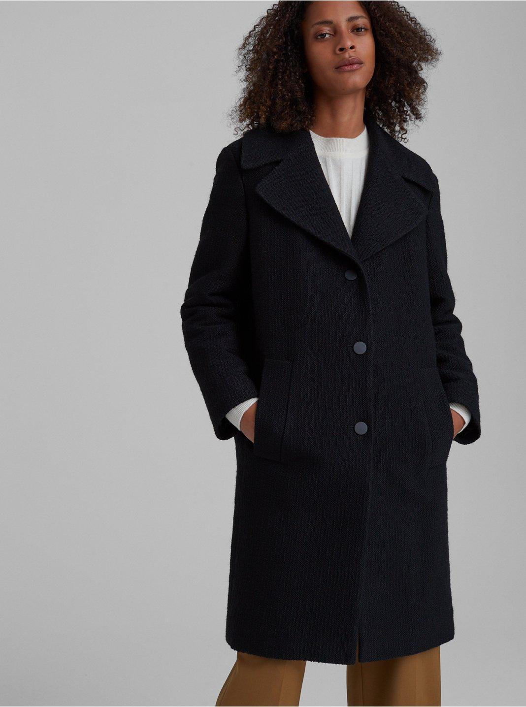 Manteau bouclé