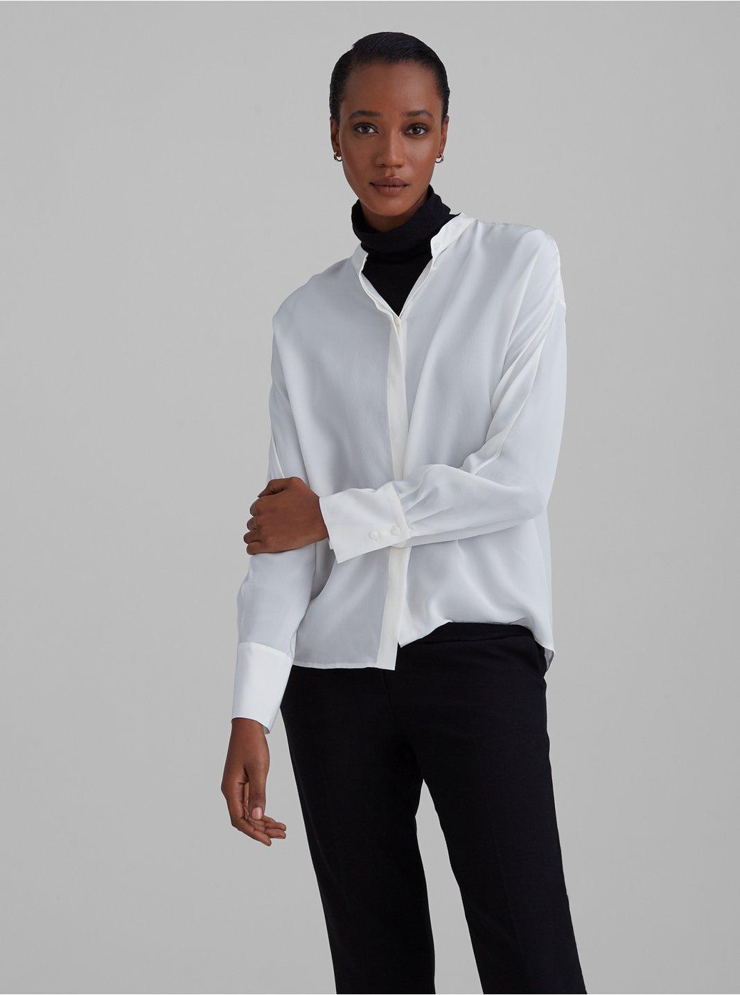 Silk Dolman Sleeve Shirt