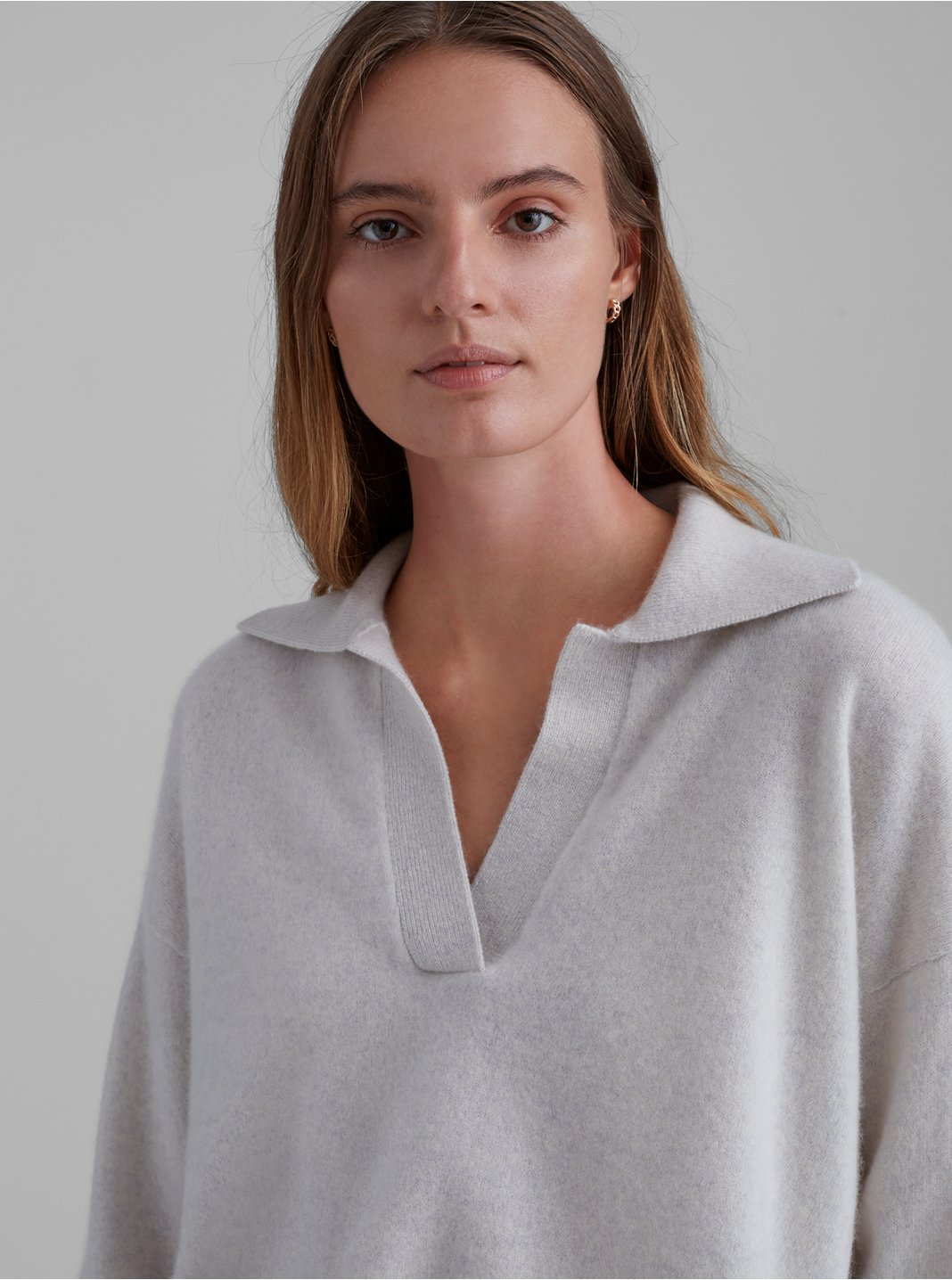 Boiled Cashmere Polo Sweater