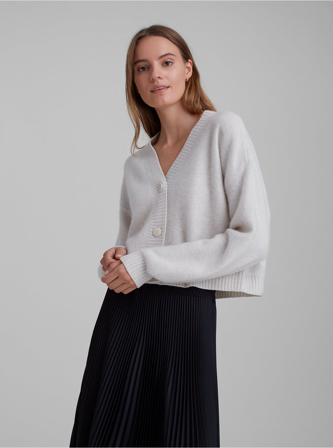 Boiled Cashmere Cardigan