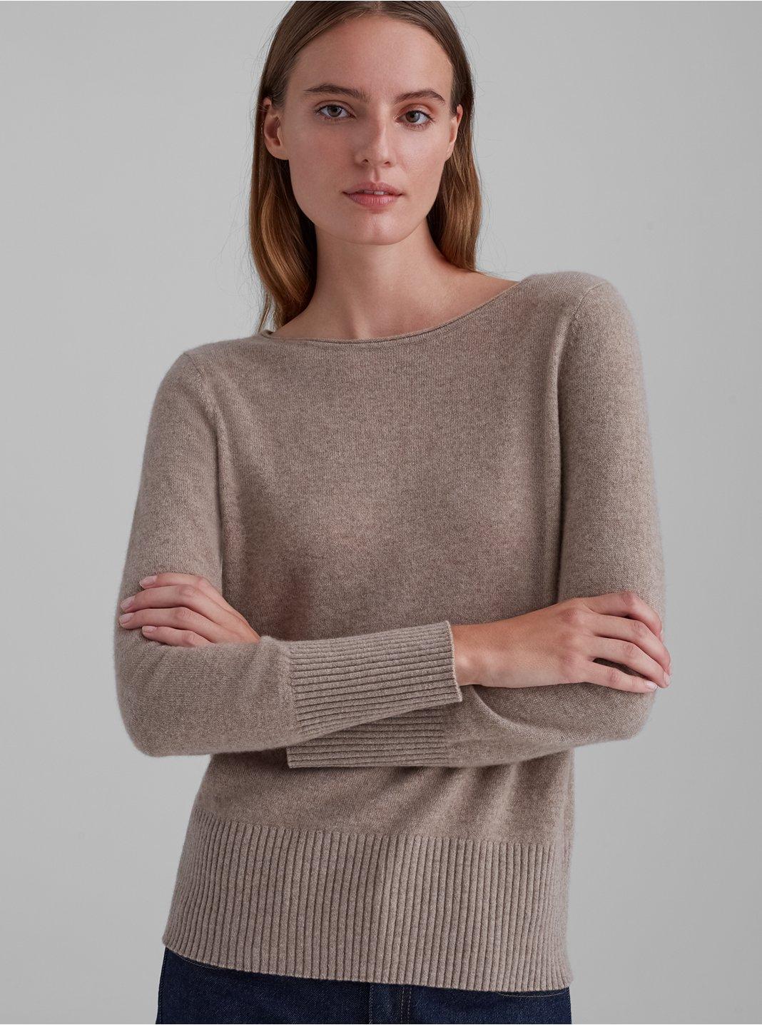클럽 모나코 스웨터 Club Monaco Essential Cashmere Crewneck Sweater,Ivory