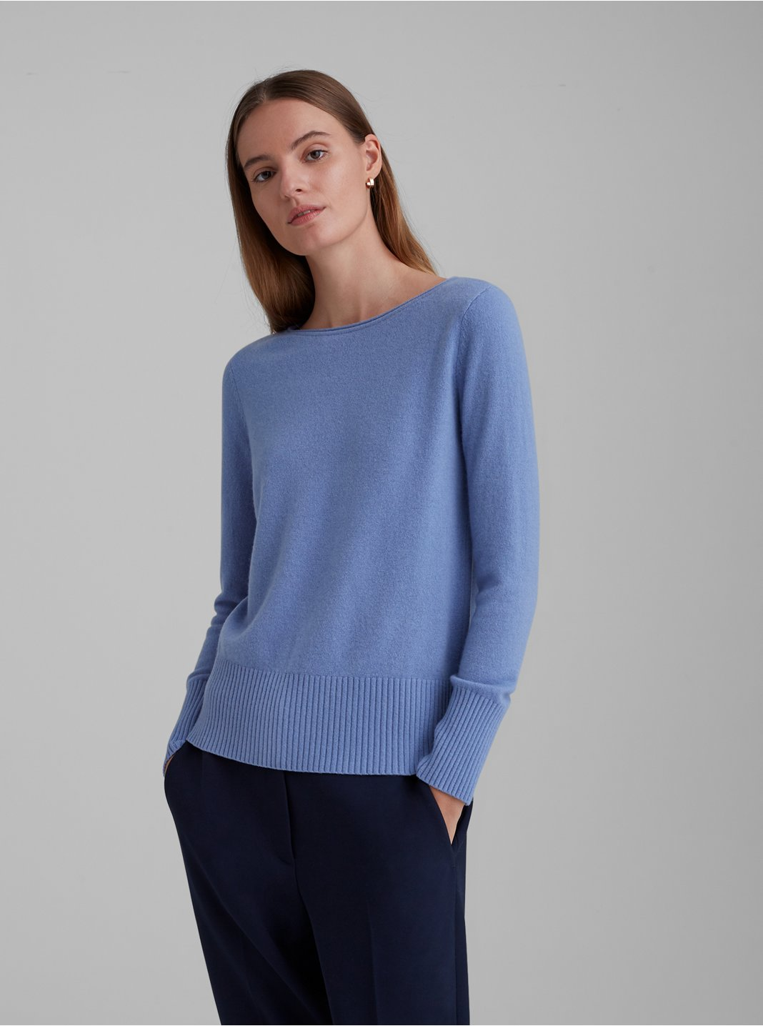 Essential Cashmere Open Neck Sweater