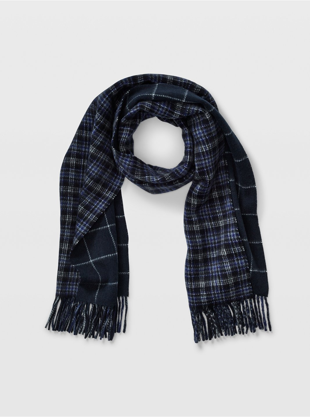 Long Windowpane Scarf