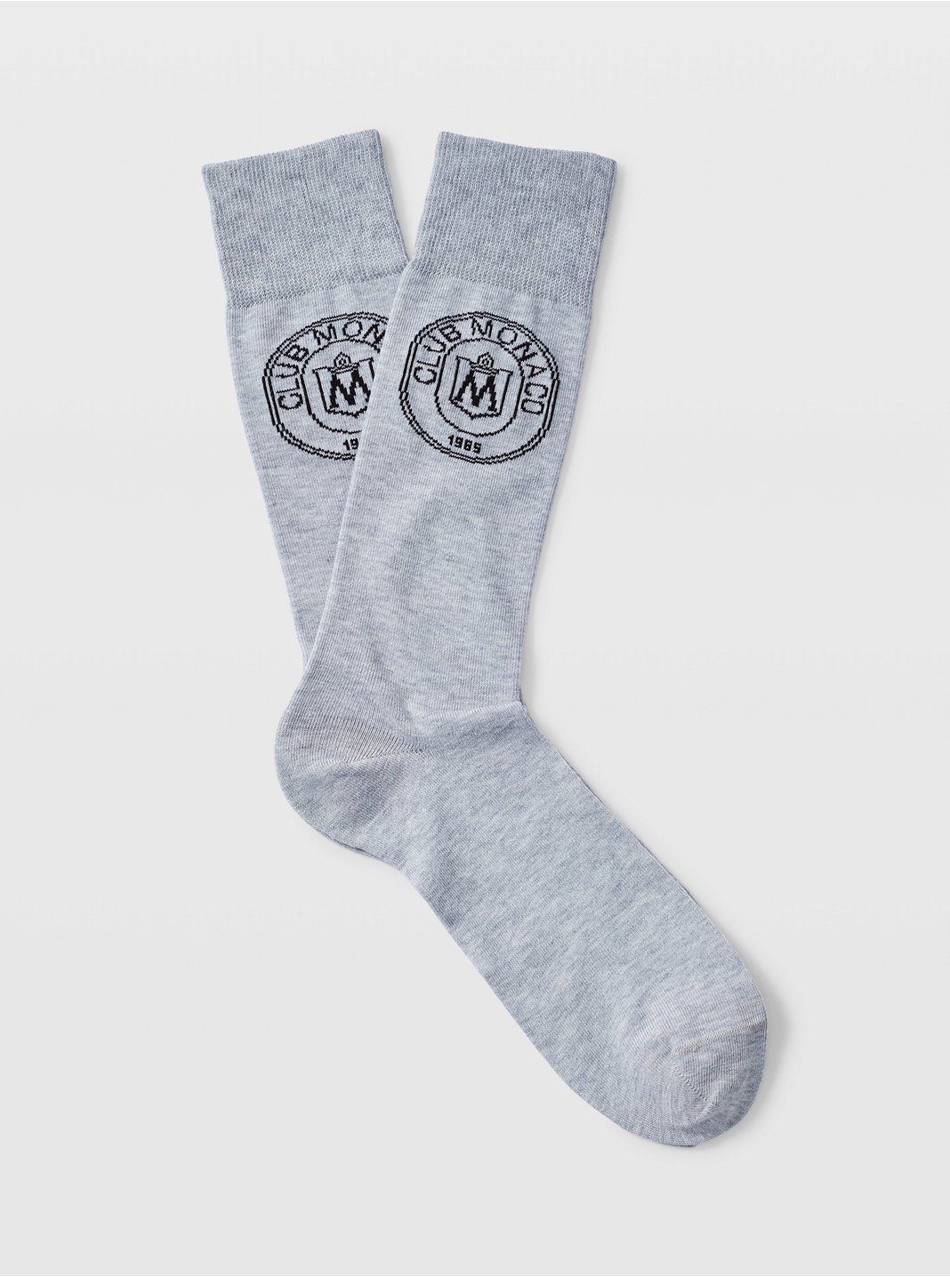 Embroidered Crest Socks