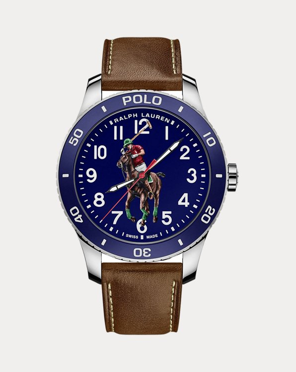 Polo-Armbanduhr in Blau