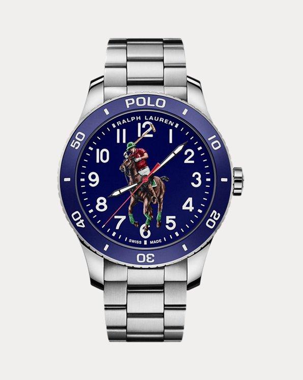 Polo-Armbanduhr in Blau