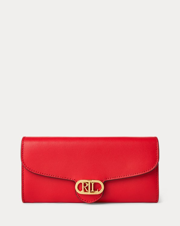 Logo Leather Continental Zip Wallet