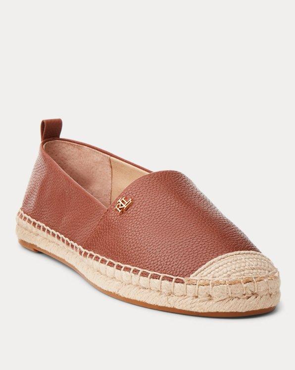 Cameryn Tumbled Leather Espadrille