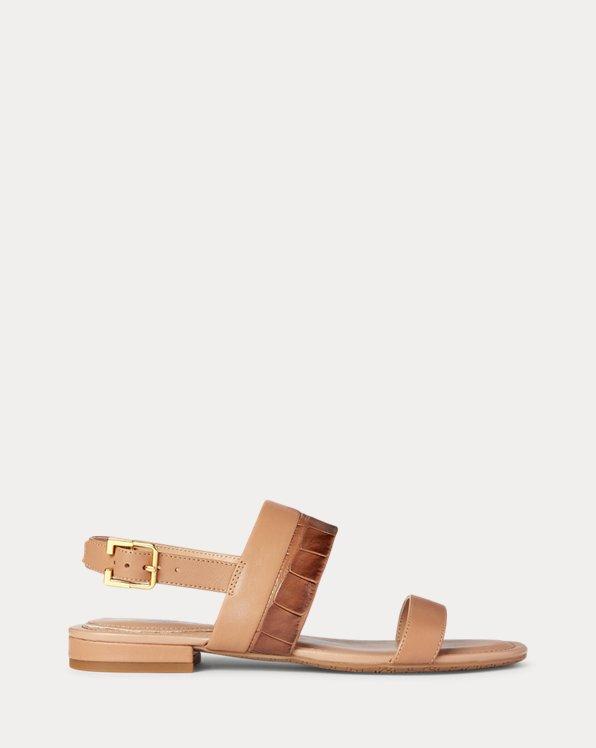 Kristi Embossed Nappa Leather Sandal