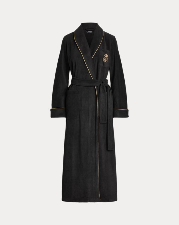 Long Shawl-Collar Fleece Robe