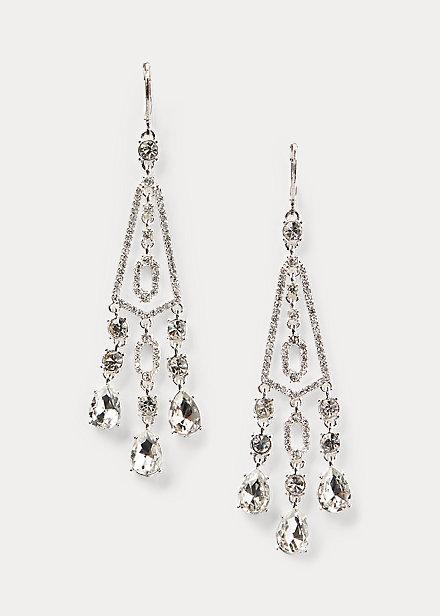 Polo RalphLauren Crystal Chandelier Earrings