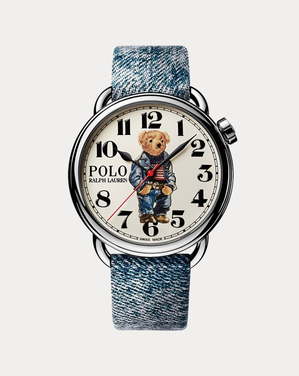 Montre Polo Bear 42 MM à drapeau denim