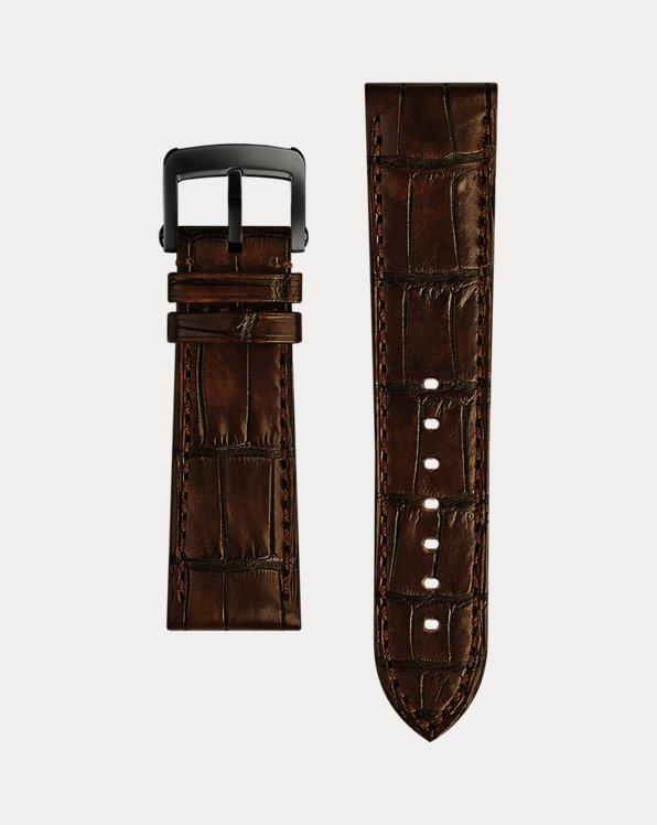 Correa de reloj de piel de caimán