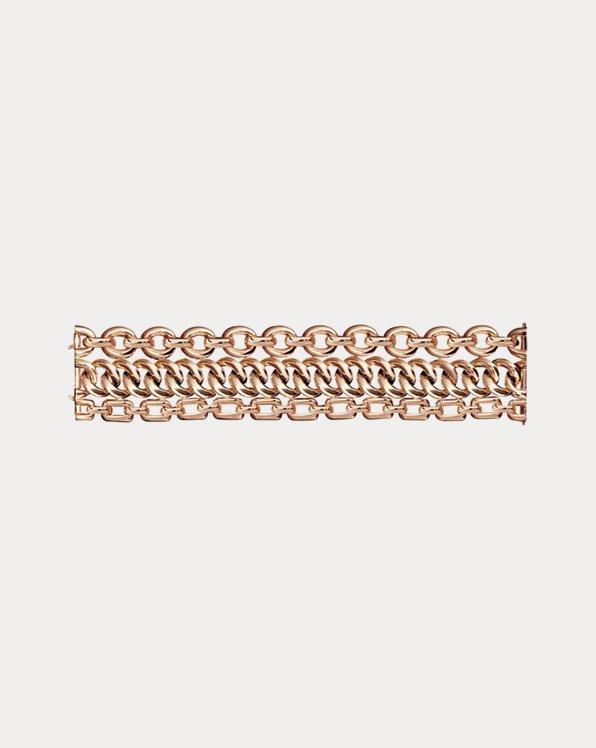 Dreireihiges Armband aus Roségold