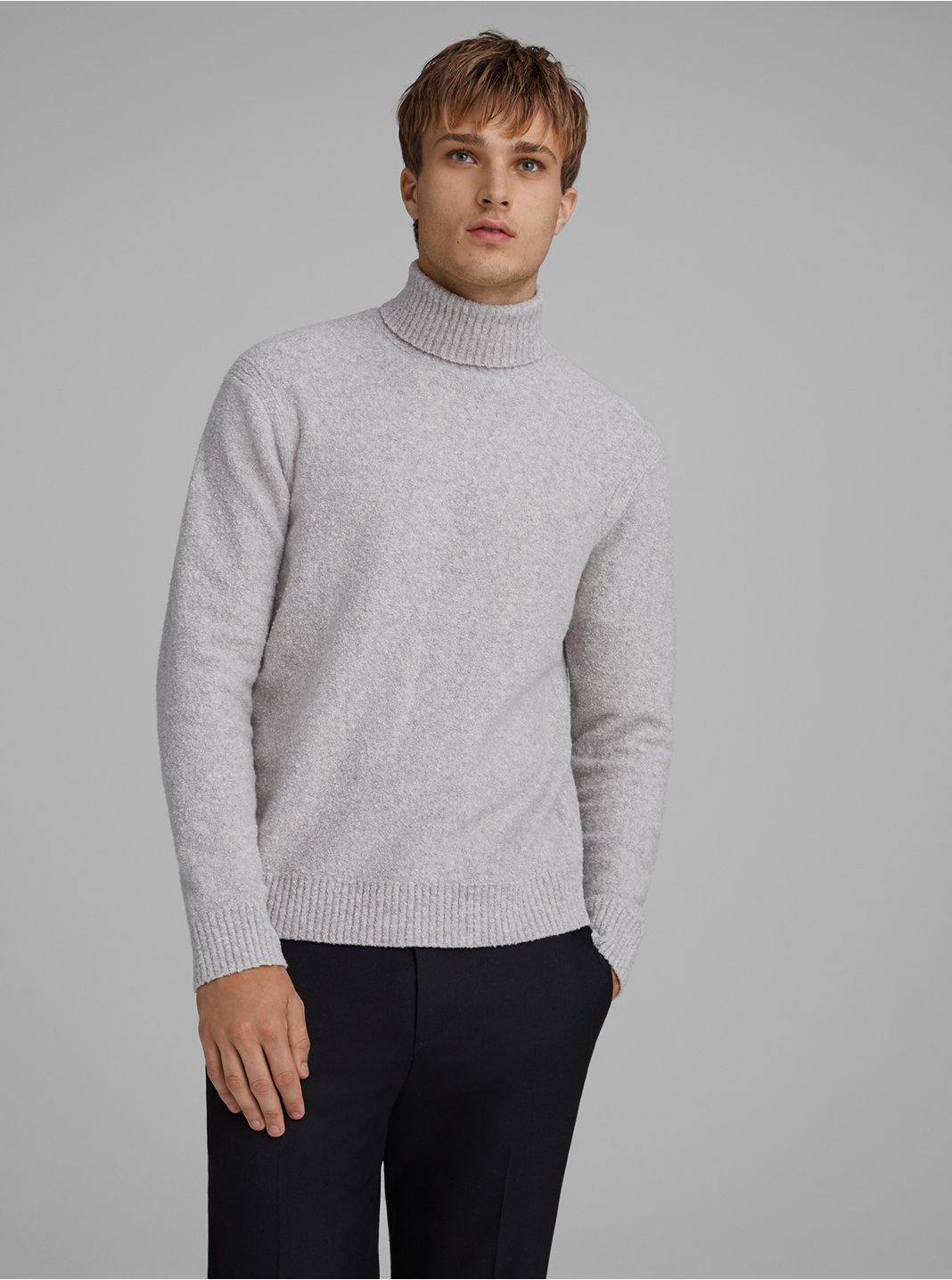 Bouclé Turtleneck