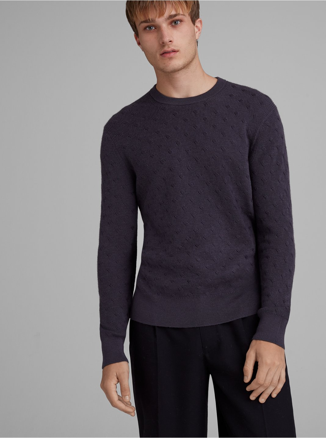 Refined Twisted Texture Sweater