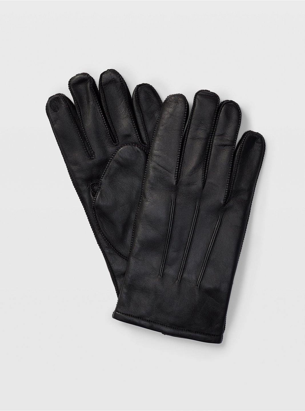 Tech-Enabled Leather Gloves