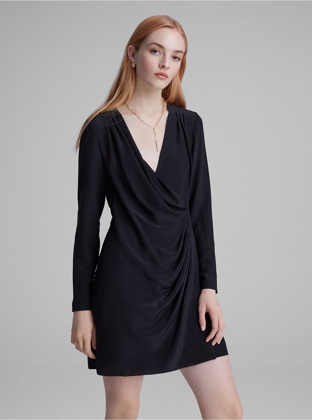 Side Drape Mini Dress