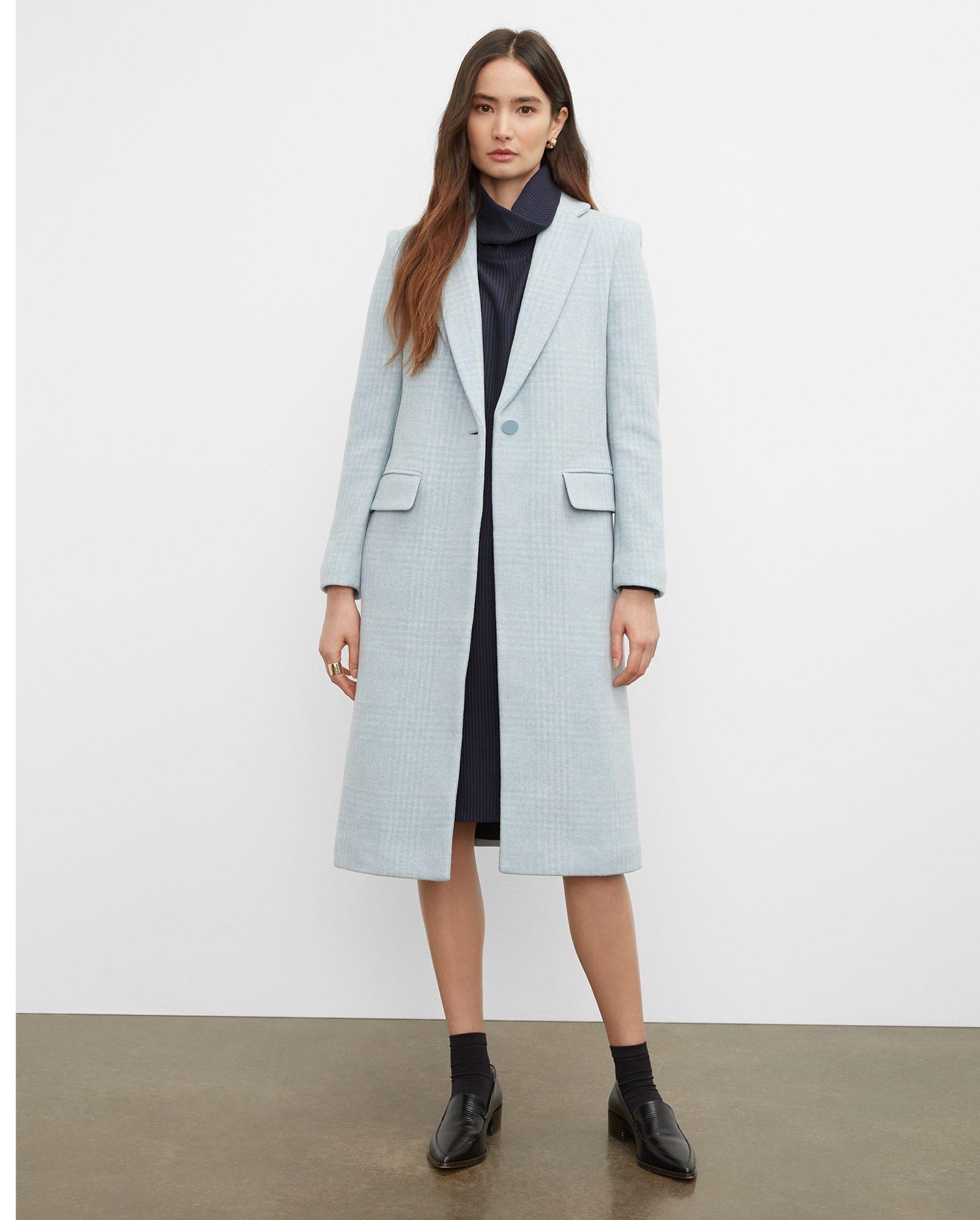 CLUB MONACO Plaid Slim Tailored Coat