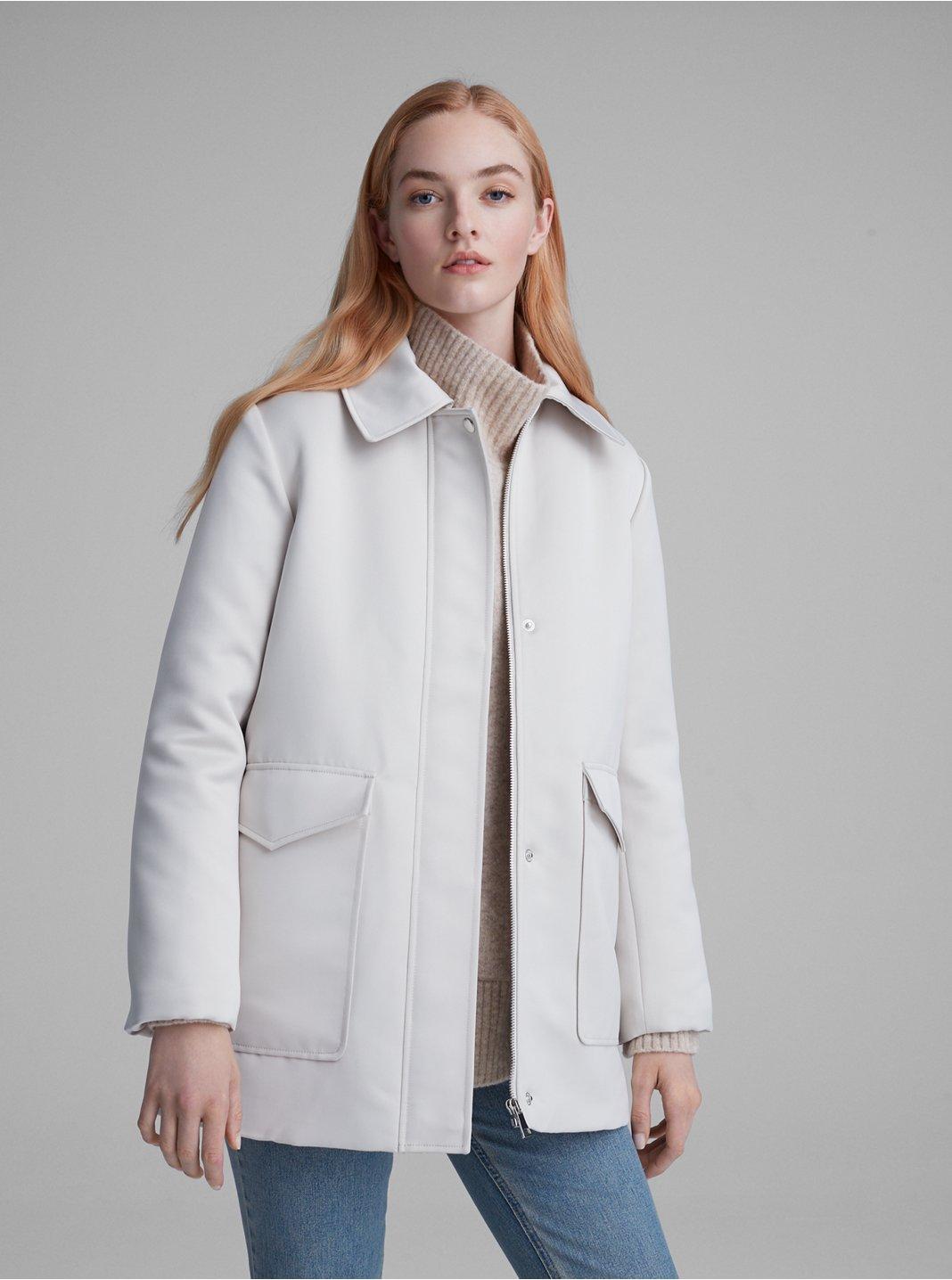 Manteau matelassé en satin