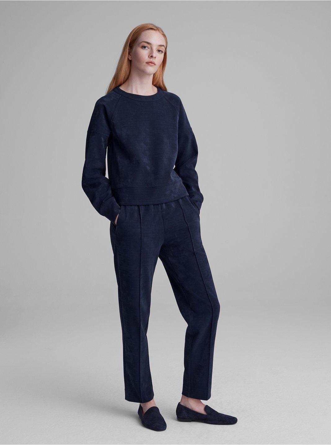 Pantalon en tricot de suède