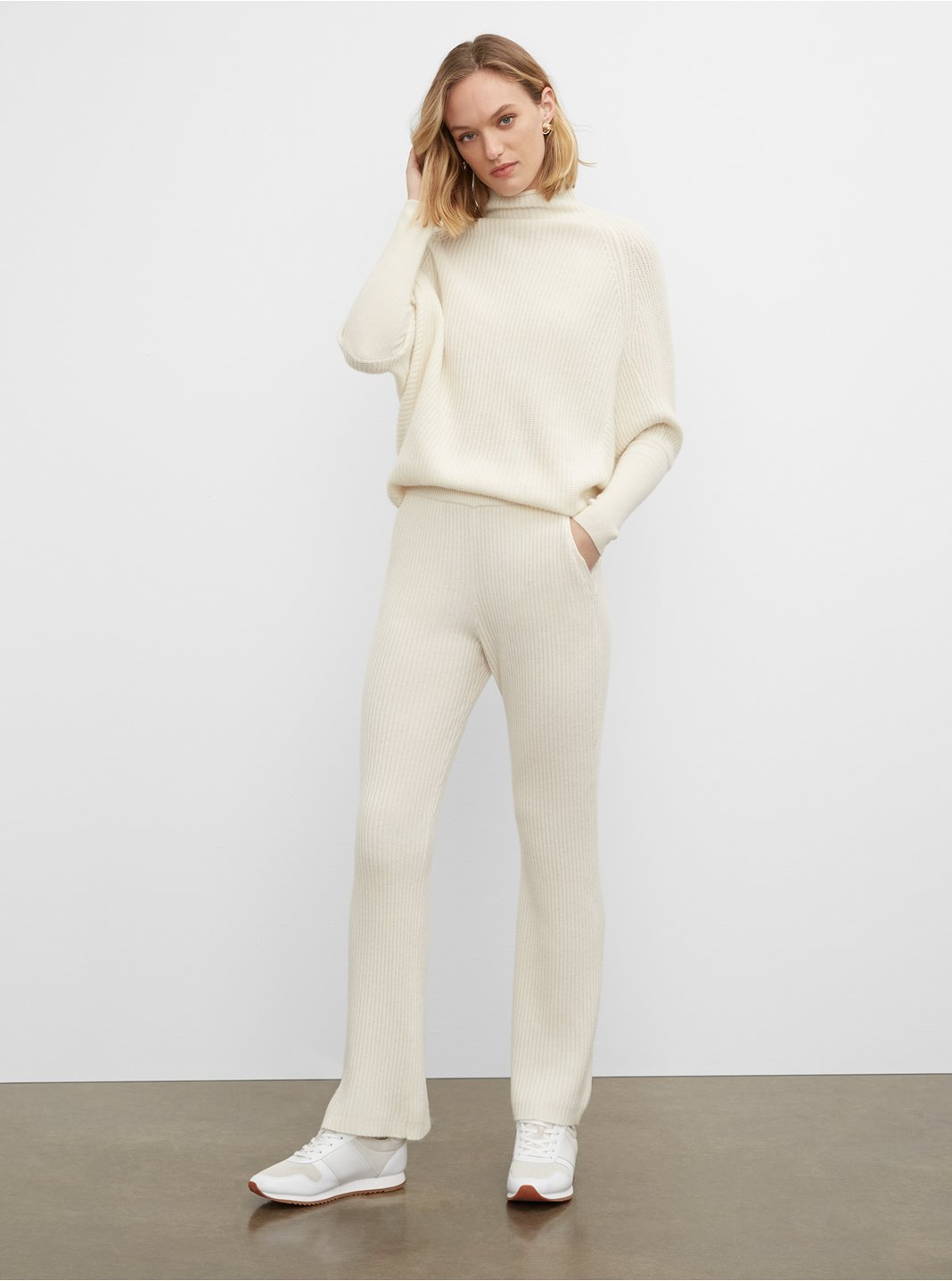 Cashmere-Blend Ribbed Pant