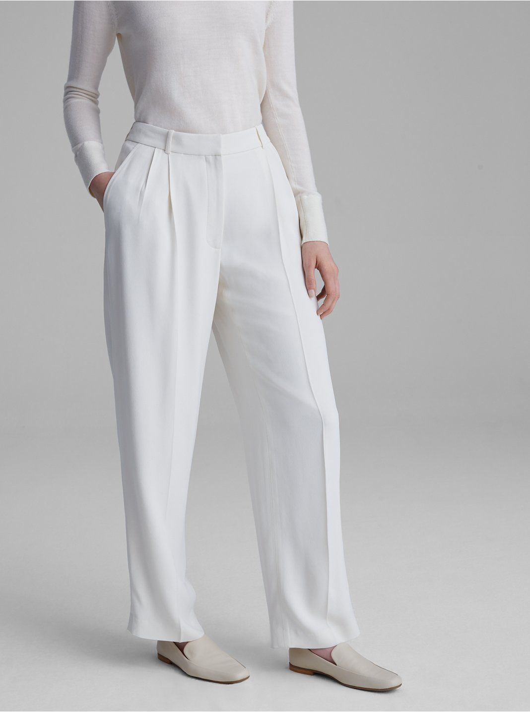 Pleat Front Trousers