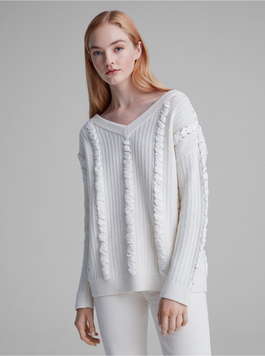 Woven Detail Sweater