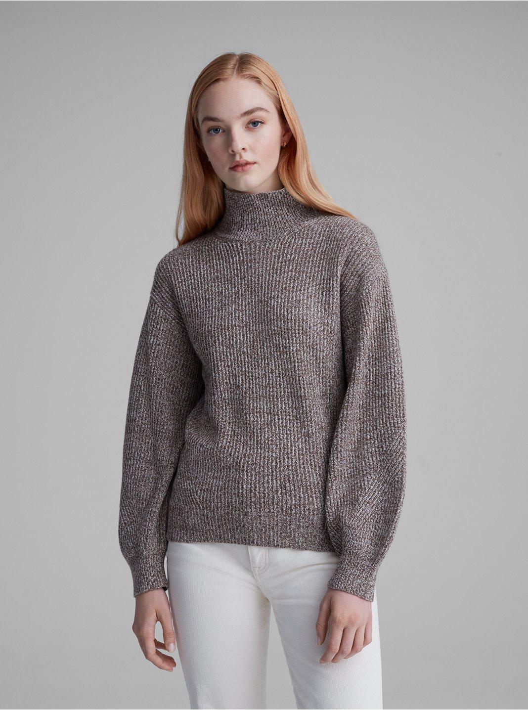클럽 모나코 골지 터틀넥 스웨터 - 뉴트럴 Club Monaco Rib Turtleneck Sweater 562595