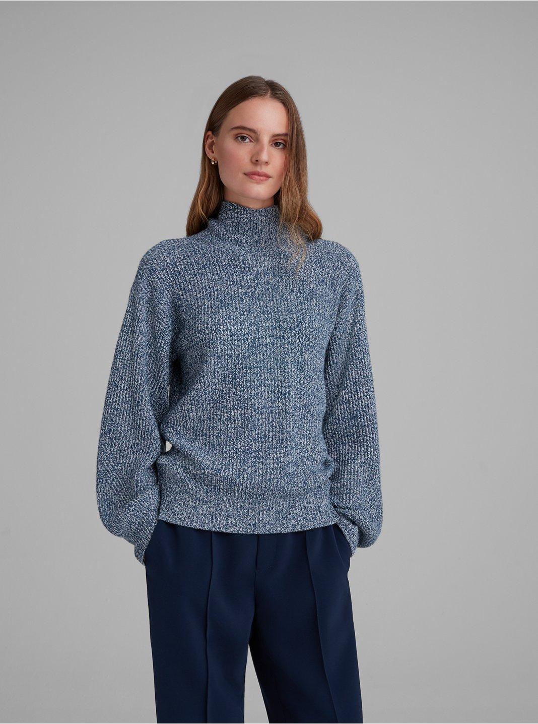 클럽 모나코 골지 터틀넥 스웨터 - 오션 Club Monaco Rib Turtleneck Sweater 562595