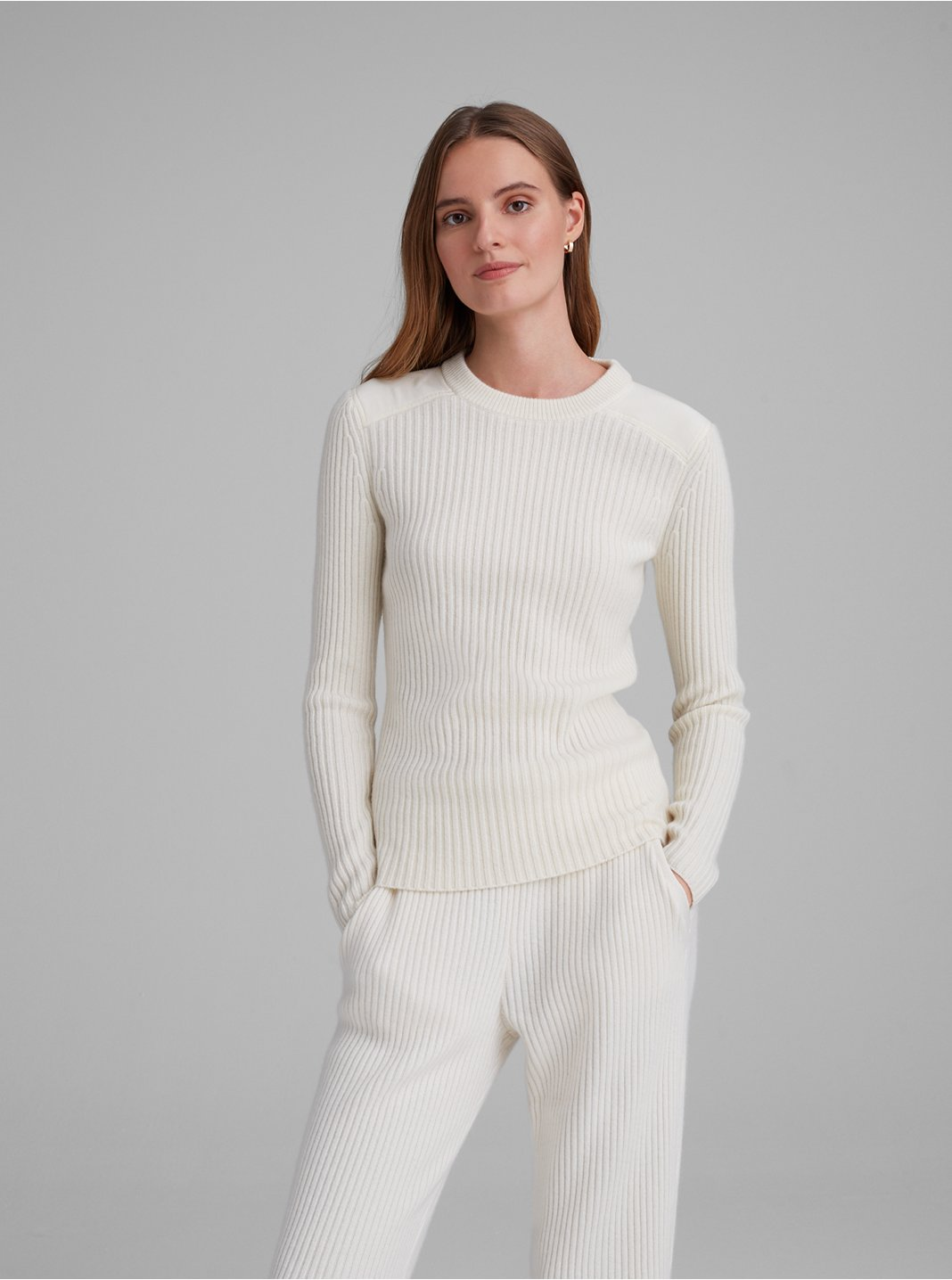 Woven Yolk Cashmere Sweater