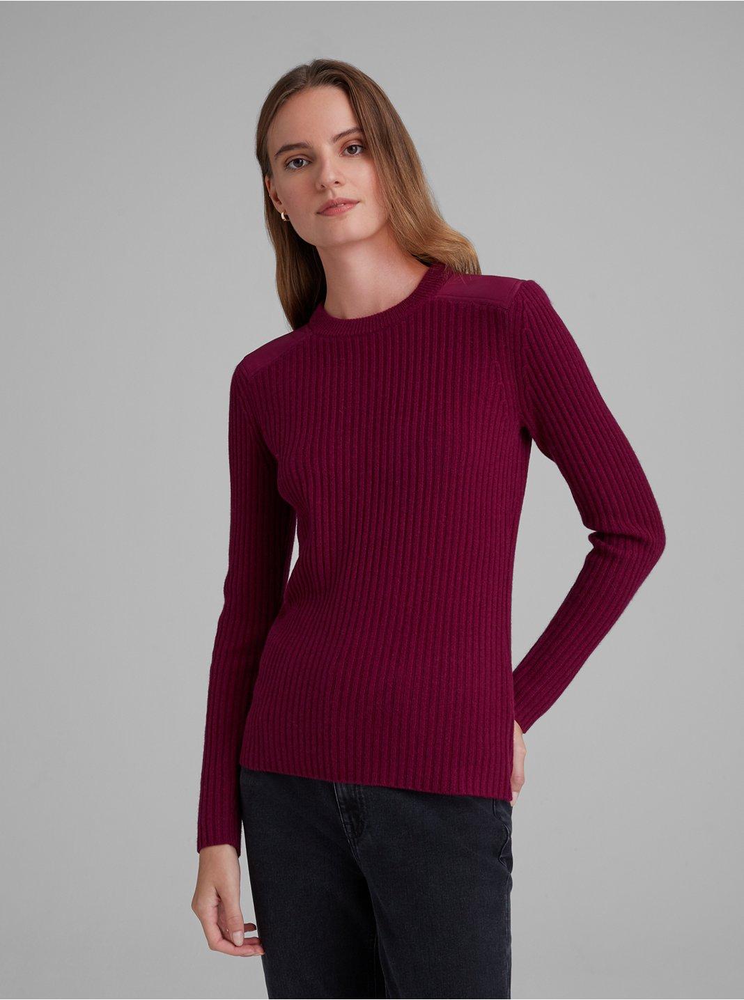 Woven Yolk Cashmere Sweater
