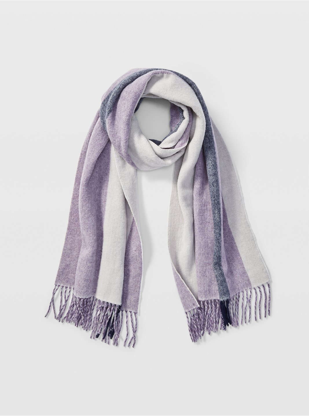 Thisbee Striped Wool Scarf