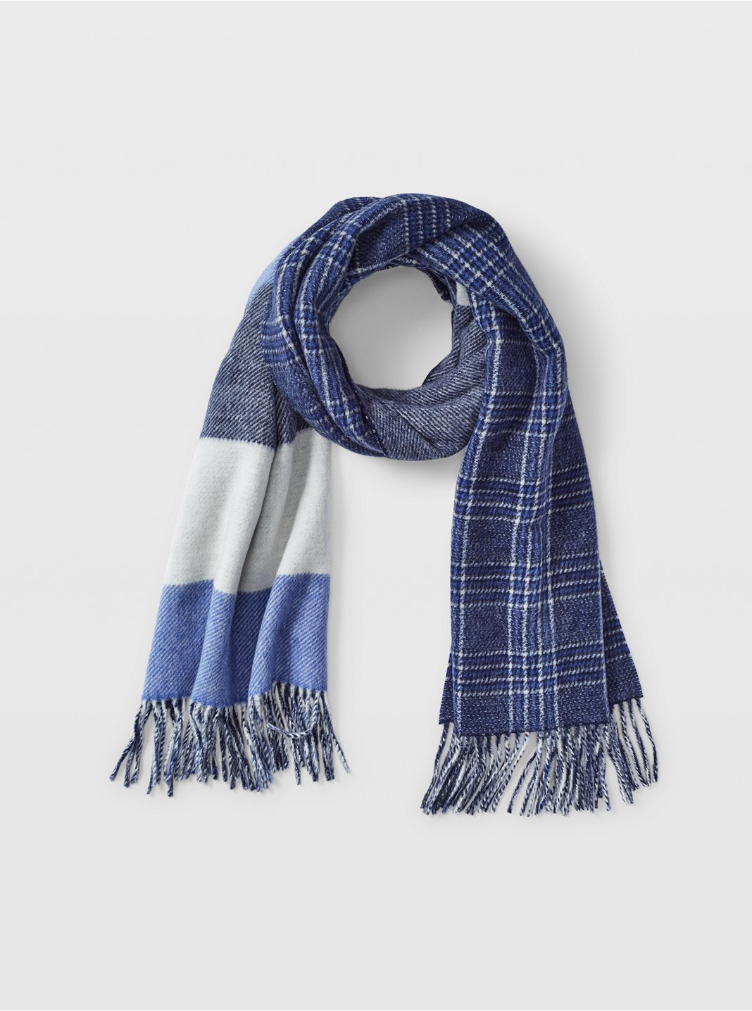 Thisbee Plaid Wool Scarf