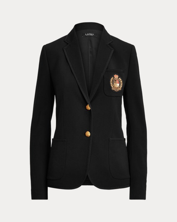 Patch Wool Crepe Blazer