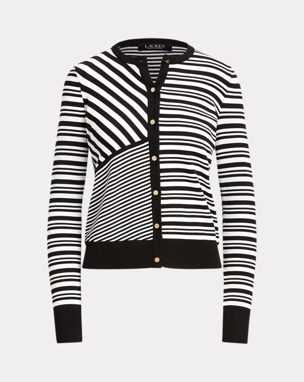 Striped Patchwork Jersey Cardigan
